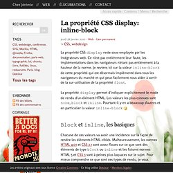 CSS display: inline-block