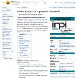 Institut national de la propriété industrielle
