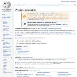 Propriété industrielle