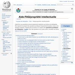 Aide:FAQ/propriété intellectuelle