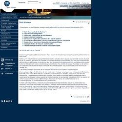 SG - DAJ : Propriété intellectuelle - Droit d'auteur