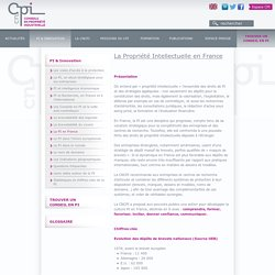 La Propriété Intellectuelle en France