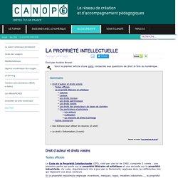 Canopé Créteil - La propriété intellectuelle