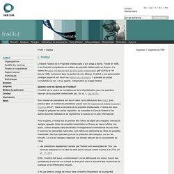 Site de l'Institut Fédéral de la Propriété Intellectuelle