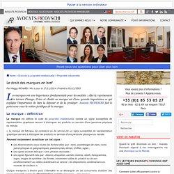 droit des marques en bref - Droit de la propriété intellectuelle - Cabinet Avocats Picovschi
