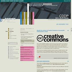 Aborder les notions de Creative Commons et de propriété intellectuelle en classe.