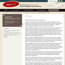 Propriété intellectuelle et TIC