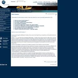 Propriété intellectuelle - Droit d'auteur