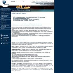 DGDR - DAJ : Propriété intellectuelle - Droit à l'image