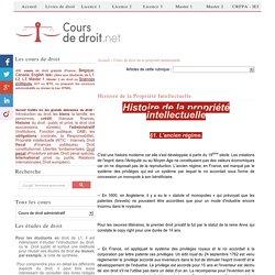 Le droit de la propriété intellectuelle (cours)