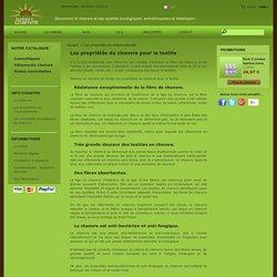 Les propriétés du chanvre/textile - La Cabane à Chanvre