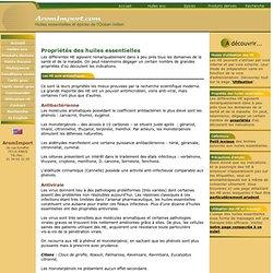 Propriétés des huiles essentielles (HE)