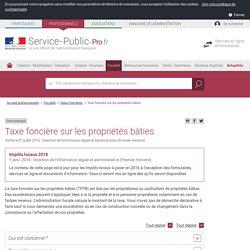 Taxe foncière sur les propriétés bâties - professionnels