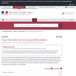 Chapitre 11 autres impot directs pearltrees - Exoneration taxe habitation si non imposable ...