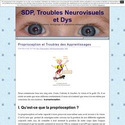 SDP, Troubles Neurovisuels et Dys » Proprioception et Troubles des Apprentissages