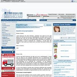 Question de proprioception, ergothérapie pour enfants.