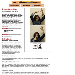 Proprioception: Perception & Life Science Activity