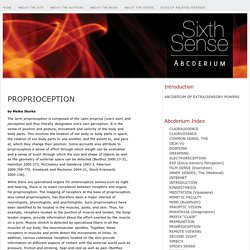 PROPRIOCEPTION « Sixth Sense