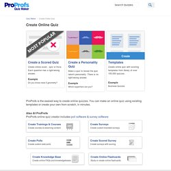 Create A Quiz: Free Quiz Creation Tool by ProProfs