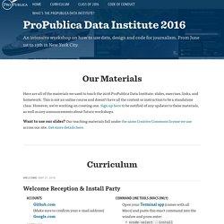 ProPublica Summer Data Institute