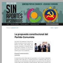 La propuesta constitucional del Partido Comunista