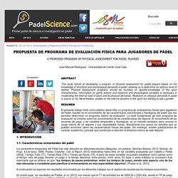 Propuesta programa evaluacion fisica jugadores de padel