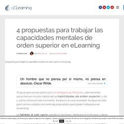 4 propuestas para trabajar las capacidades mentales de orden superior en eLearning