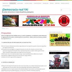 Propuestas - ¡Democracia Real YA!