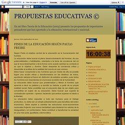 FINES DE LA EDUCACIÓN SEGÚN PAULO FREIRE