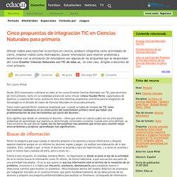 Cinco propuestas de integración TIC en Ciencias Naturales para primaria