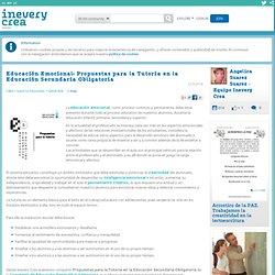 Educación Emocional: Propuestas para la Tutoría en la Educación Secundaria Obligatoria - Inevery Crea