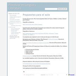 Propuestas para el aula - Planificar en Lengua y Literatura