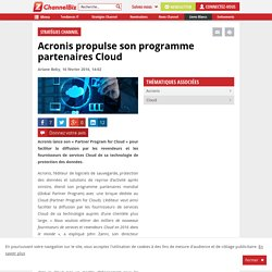 Acronis propulse son programme partenaires Cloud
