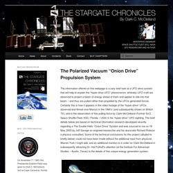 "The Polarized Vacuum ""Onion Drive"" Propulsion System"