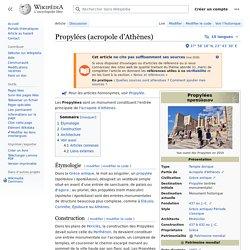 Propylées (acropole d'Athènes)