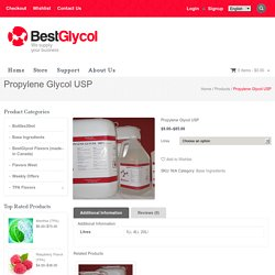 PROPYLENE GLYCOL SUPPLIER in Montreal