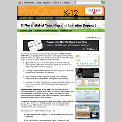 Differentiated Teaching and Learning Support