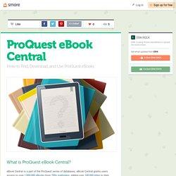 ProQuest eBook Central (Erik)