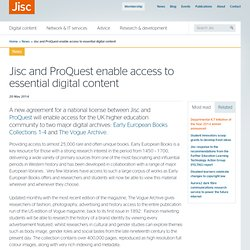Jisc and ProQuest enable access to essential digital content