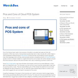 Pros and cons of Cloud POS system