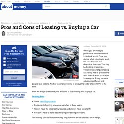 Pros and Cons of Leasing vs. Buying a Car