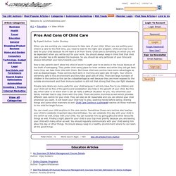 Pros And Cons Of Child Care