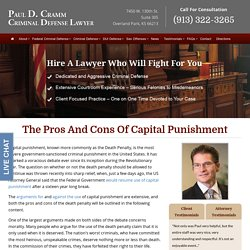 The Pros and Cons of Capital Punishment - Paul Cramm