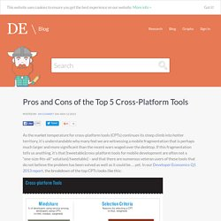 Pros and Cons of the Top 5 Cross-Platform Tools