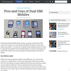 Pros and Cons of Dual SIM Mobiles