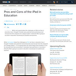 Pros and Cons of the iPad in Education — Apple News, Tips and Reviews