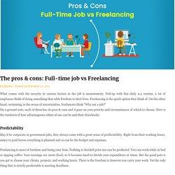 The pros & cons: Full-time job vs Freelancing - Ekprice