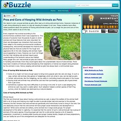 write an essay about the pros and cons of keeping wild animals as pets Pets and animals the disadvantages of having a pet updated on february 25 eliminating fleas in our pets - the pros and cons of anti-flea products.