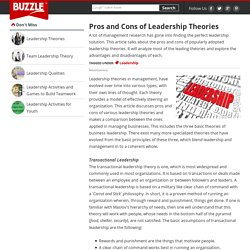 Pros and Cons of Leadership Theories