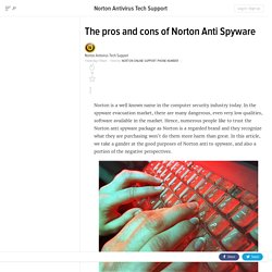 The pros and cons of Norton Anti Spyware